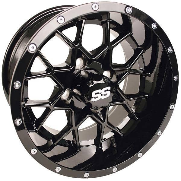 12x7 Gloss Black Vortex Wheel 3 4 Offset Orange County Monster Carts